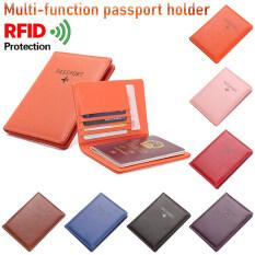 1 * Túi Đựng Hộ Chiếu Thời Trang Mới Siêu Mỏng Chống Nước Bằng Da RFID Vỏ Bọc Du Lịch Túi Bảo Vệ Hộ Chiếu