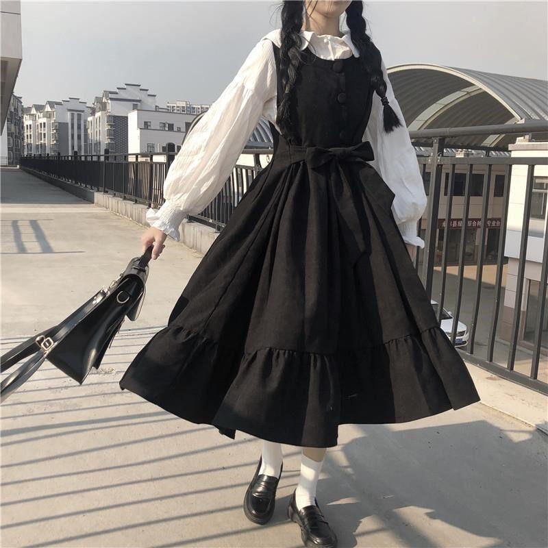 Tiktok Váy Dài Phong Cách Đại Học Cho Nữ, Mỏng Và Khí Chất Cao, Váy Nhỏ Hai Mảnh Ngọt Ngào Và Dễ Thương