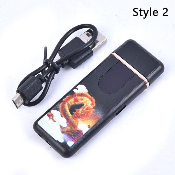 JUNY  Electric Touch Sensor Cool Lighter USB Windproof lighters Smoking Accessories