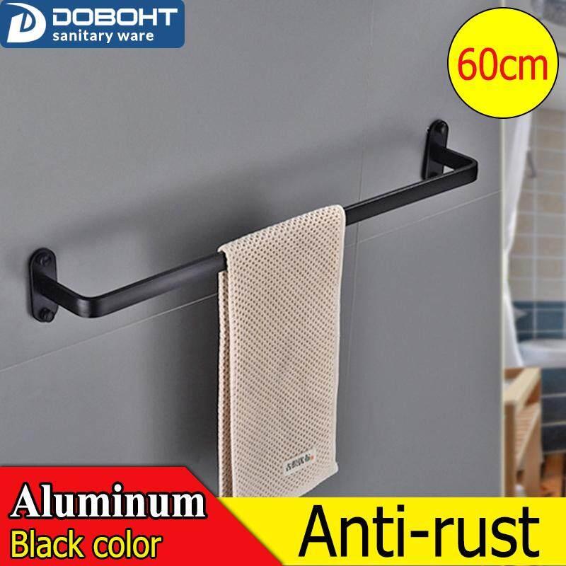 Doboht Wall Mounted 60cm Black Color Space Aluminum Alloy Single Towel Rails Racks Hotel Bathroom Accessories Hardware By Doboht Sanitaryware.