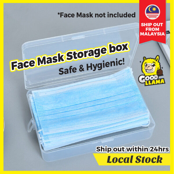 GOODLLAMA Portable Face Mask Storage Box Case for Disposable Face Mask Keeper Container Organizer