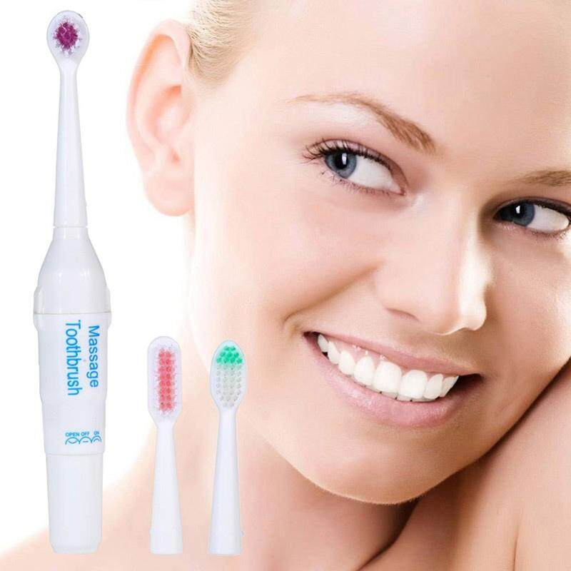 Rotating Electric Toothbrush Battery Operated With 2 Brush Heads Oral Hygiene Health Products No Rechargeable Tooth Brush 40 By Mayunbaba.