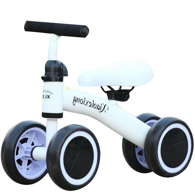 Supercart Children Four-Wheeled Push Bicycle No Pedal Balance Sliding Bike Kids Walker By Supercart.
