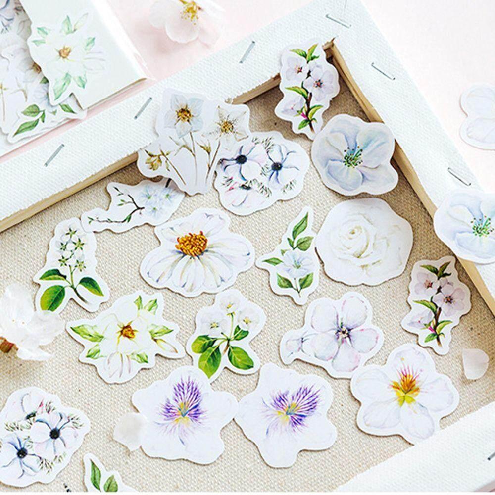 45Pcs Cute Flowers Stickers Kawaii Stationery Scrapbooking Journal Stickers PP