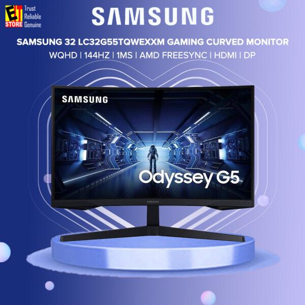Samsung 32 Odyssey G5 LC32G55 LC32G55TQWEXXM WQHD 144Hz 1ms AMD FREESYNC HDMI DP 1000R VA Gaming Curved Monitor Malaysia