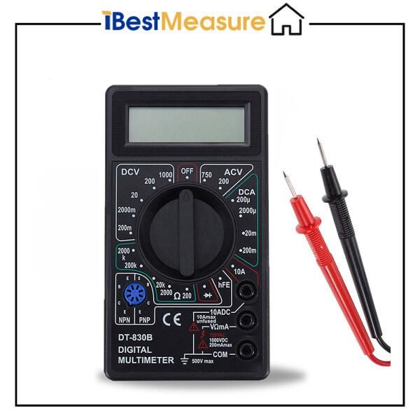 Đồng hồ vạn năng kỹ thuật số mini cầm tay LCD DT-830 AC/DC 750/1000V với đầu dò IBestMeasure - INTL