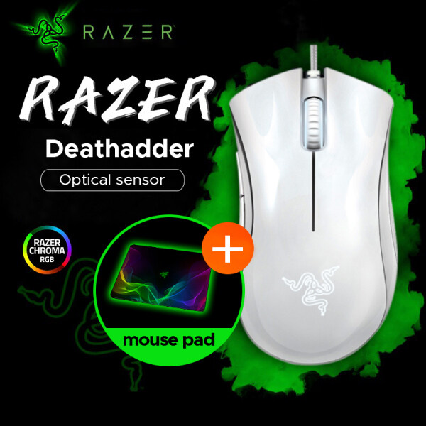 [Ready to Ship] Original Razer DeathAdder Essential Wired Gaming Mouse Mice 6400DPI Optical Sensor 5 Independently Buttons For Laptop PC Gamer