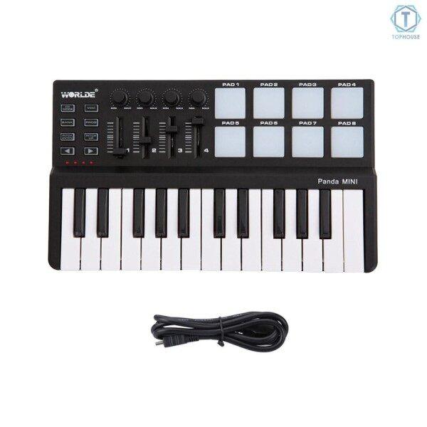 ∮ Worlde Panda mini Portable Mini 25-Key USB Keyboard and Drum Pad MIDI Controller Malaysia