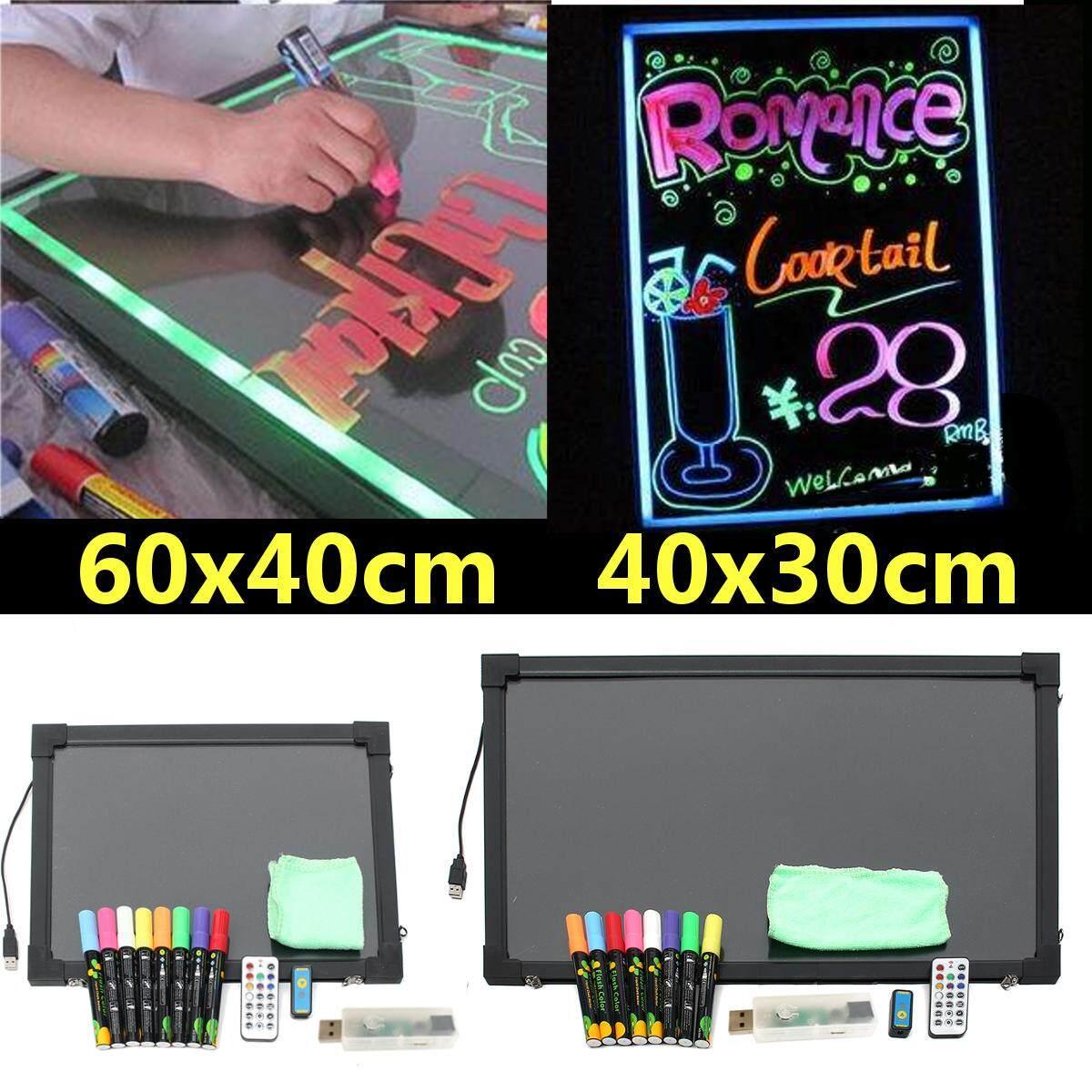 40X30 Cm Sensorik Lampu LED Up Gambar Papan Tulis Pengendali Tampilan Berdiri + 8 Warna Pulpen