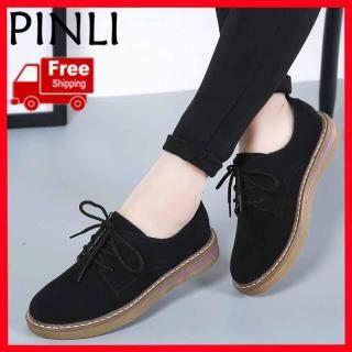 Giày Oxford PINLI Cho Nữ Giày Da Oxford Cổ Thấp Thời Trang Thường Ngày thumbnail