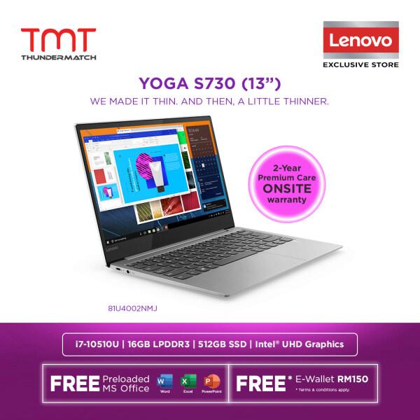 Lenovo Yoga S730-13IML 81U4002NMJ Laptop | i7-10510U | 16GB 512GB SSD | 13.3 FHD | W10 | MS OFFICE + BAG Malaysia