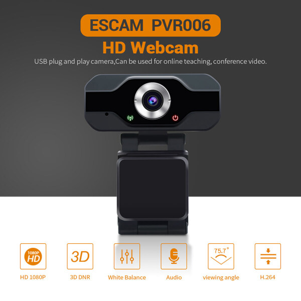 Webcam 1080P HD Web Camera USB Plug and Play Video Recording for PC Laptop Singapore
