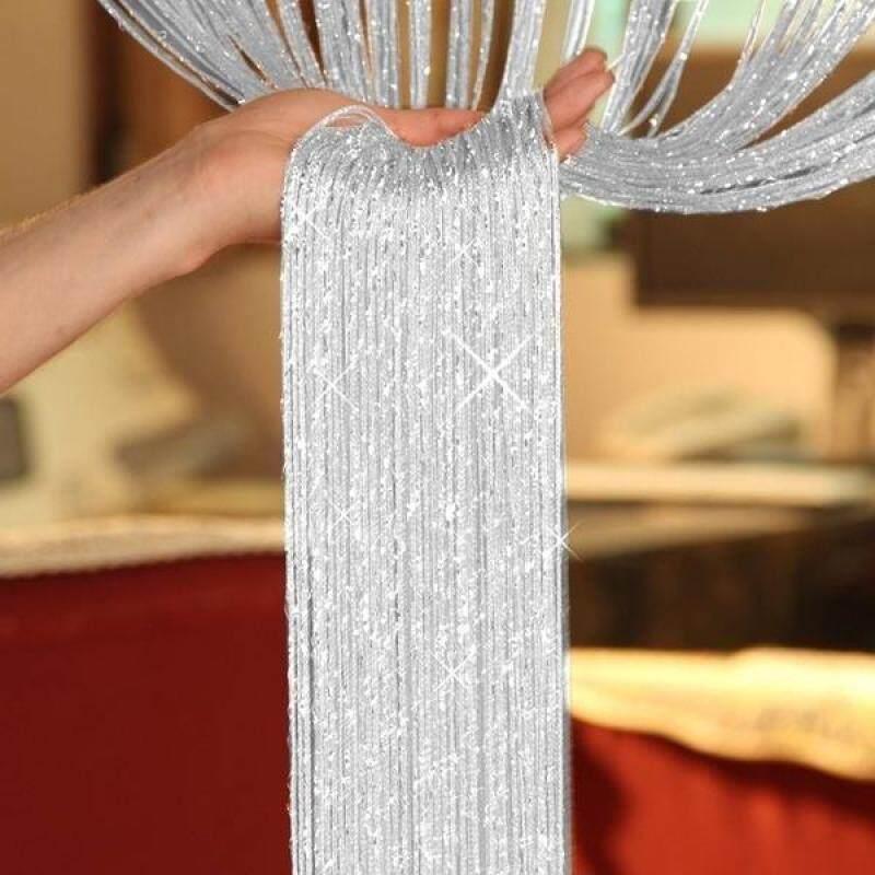 Lalang Rèm cửa sổ sợi kim tuyến lấp lánh, kích thước 200*95cm, đồ nội thất trang trí, giá tốt - INTL
