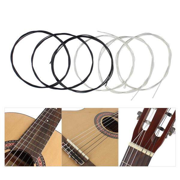 6 Pcs/set (.028-.043) Tali Gitar Klasik Nilon Dua Warna Ketegangan Normal Malaysia
