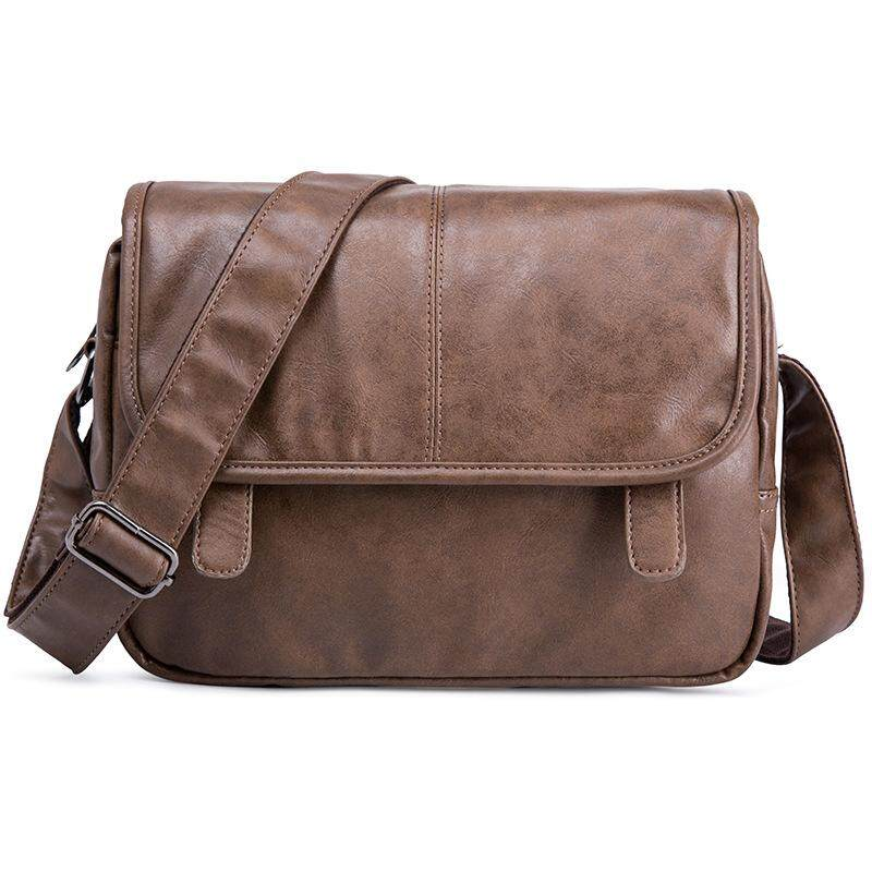 New Cool Shoulder Messenger Bag For Men High Quantity Leather Waterproof Casual Sling Bags For Man
