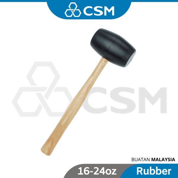 CSM TM70 Twin Master Rubber Hammer Wooden Handle Rubber Mallet Penukul Tukul Getah 8oz 12oz 16oz 24oz