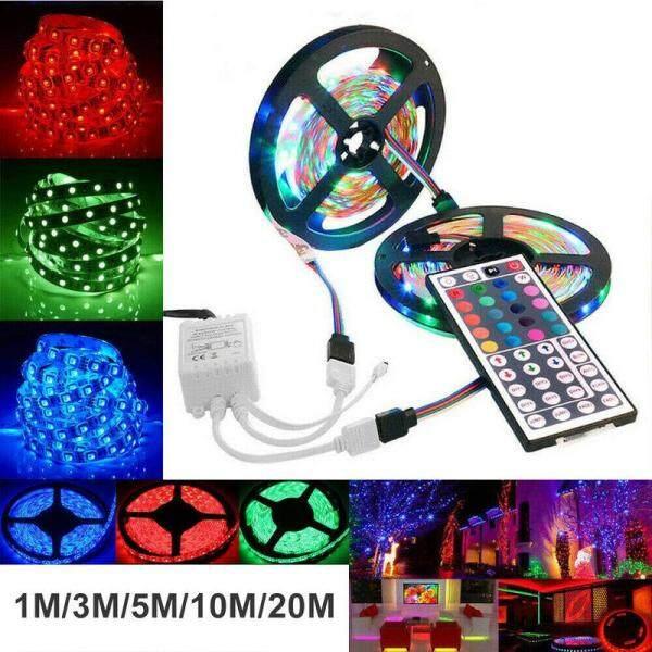 Rgb Led Strip Lights Ip33 3528 1/2/5/10/20M 400 Leds 12V + 44 Key Ir Điều Khiển