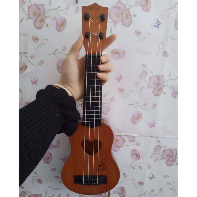 little guitar Childrens its toy can play the simulation medium ukulele beginners musical Malaysia