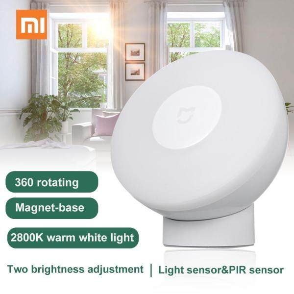 Đèn LED Xiao-mi Cảm ứng Ban đêm2 Bộ cảm biến cơ thể người thông minh 360 độ Độ sáng có thể điều chỉnh