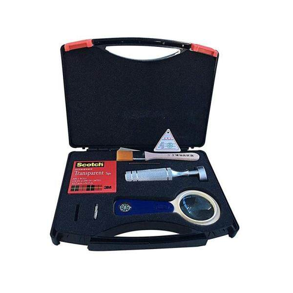 Newest QFH Cross Hatch Adhesion Tester Cross-Cut Adhesion Tester Kits with 1mm/2mm/3mm Blades, Magnifier, Handle, Brush and 3m Tape