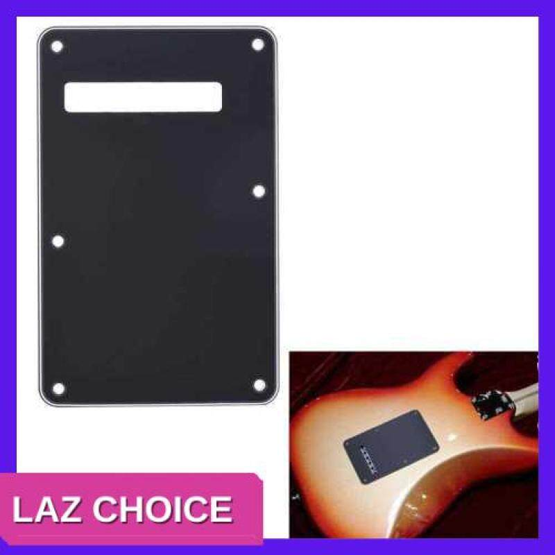 LAZ CHOICE Pickguard Tremolo Cavity Cover Backplate Back Plate 3Ply for Fender Stratocaster Strat Modern Style Electric Guitar Black (Black) Malaysia
