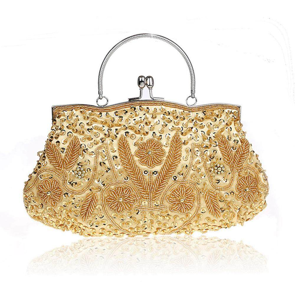 05eee7311 Teekeer Sparkle Diamante Beaded Evening Clutch Sequin Wedding Party Prom Bag  Bridal Ladies Handbag,26