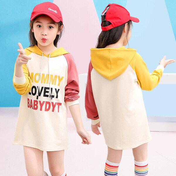 Giá bán Trong Mùa Thu, Các Phiên Bản Hàn Quốc Mới Của Trẻ Em Của Cô Gái Quần Áo Trong In Họa Tiết Dài Áo Len Khâu Trẻ Em Của Áo Blouse Trùm Đầu