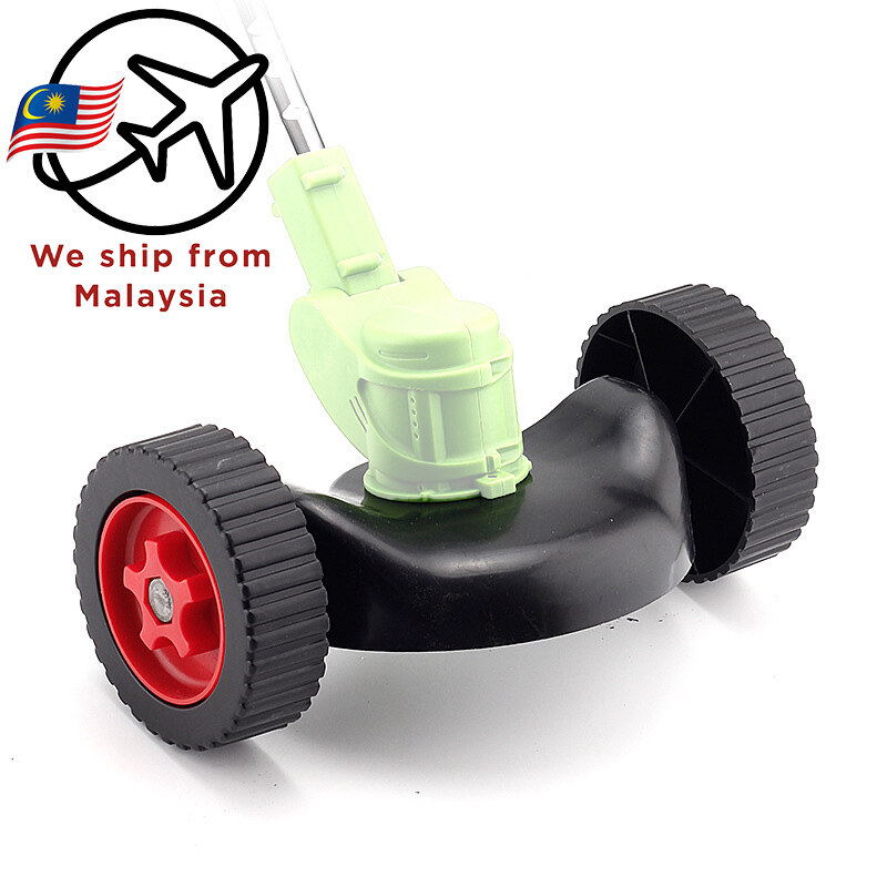 Cordless Grass Trimmer Hand Push Wheel Roller Electric Lithium