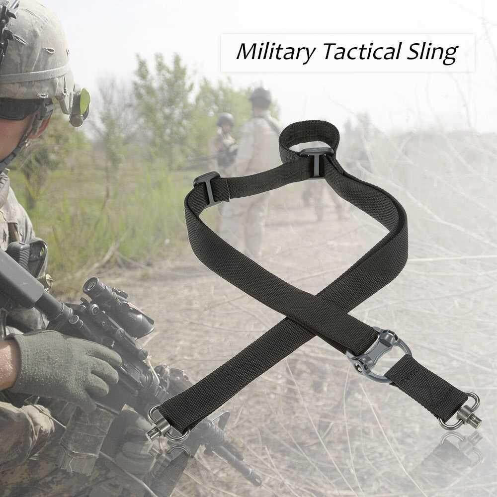 Docooler Military Tactical Safety Two Points Outdoor Belt Qd Series Sling Adjustable Strap (black) By Tech-Living.