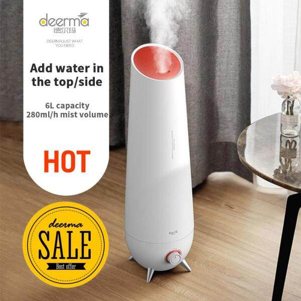 Deerma DEM-LD610 6L Large Capacity Air Conditioning Bedroom Pregnant Woman Baby Floor Air Aromatherapy Humidifying Sprayer Singapore
