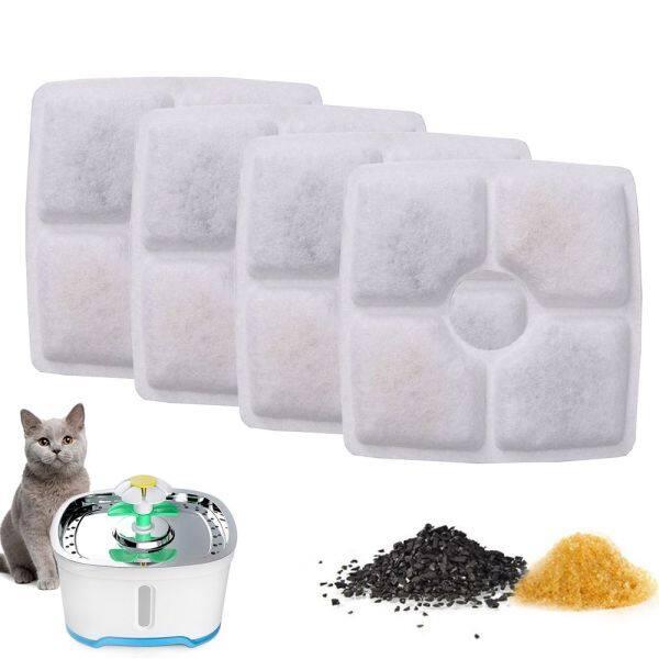 A YAYA Vòi Nước Uống Hình Vuông Hiệu Quả Bộ Lọc Tự Động Thay Thế Bằng Than Hoạt Tính Bộ Lọc Cho Thú Cưng Bộ Lọc Đài Phun Nước Uống Cho Mèo Đồ Dùng Cho Chó