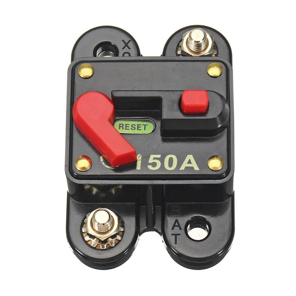 10A Gazechimp 10A-100A Manual Reset Circuit Breaker Switch Waterproof Inline Fuse Inverter 12V 24V Car SUV Marine Trolling Boat Motors