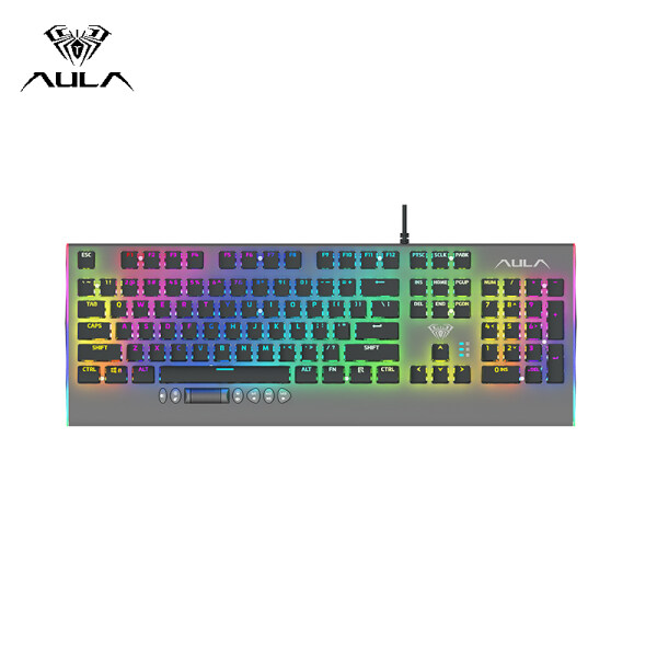 AULA F2099 Mechanical Gaming Keyboard USB Wired RGB Backlight Floating Keycap Keyboard Professional Gaming Office Keyboard -- Black Singapore