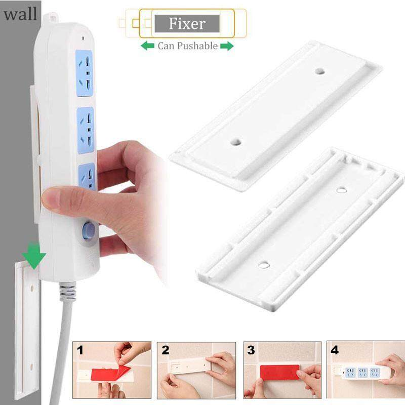 C-S Wall Storage Hook Power Plug Socket Holder,Multipurpose Self Adhesive Power Strip Fixator,Power Cord Holder Plug Socket Hook Hanger Wall Sticker Home Decal