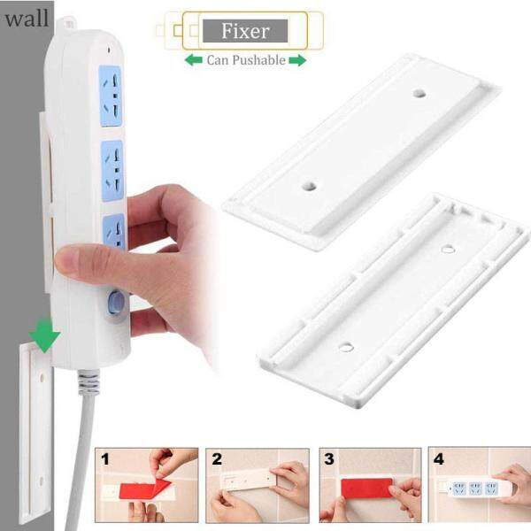 C-S Wall Storage Hook Power Plug Socket Holder,Multipurpose Self Adhesive Power Strip Fixator,Power Cord Holder Plug Socket Hook Hanger Wall Sticker Home Decal