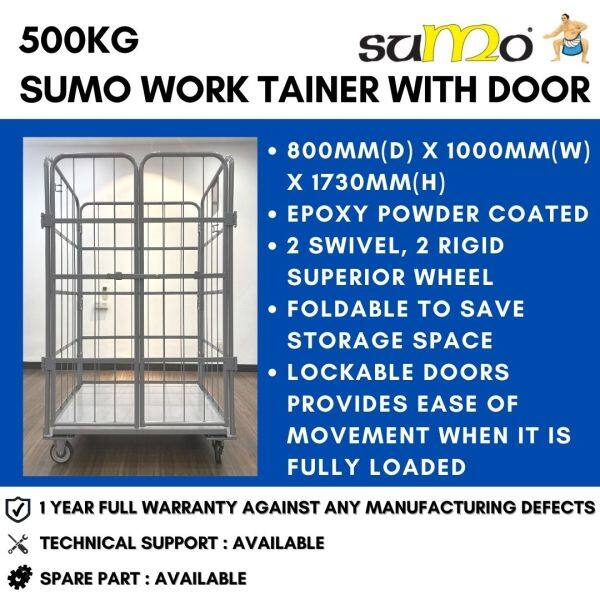 SUMO 500kg Work Tainer with Door Work Trainer Roll Cage Roll Container Logistics Trolley Warehouse Trolley Warehouse Cage High Quality Heavy Duty   1 Year FULL Warranty