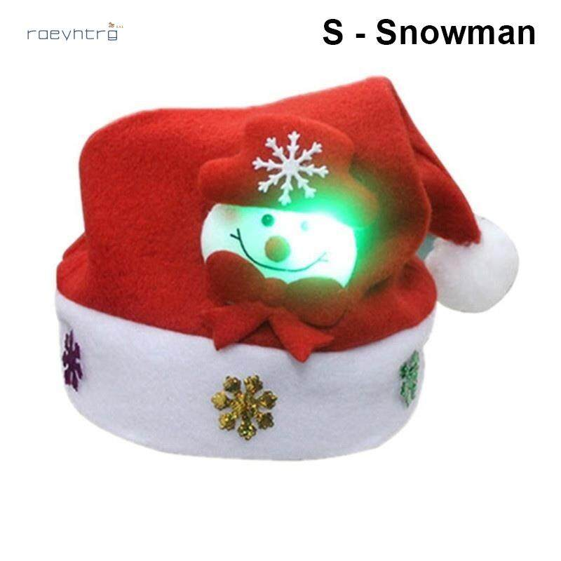 Rae Giáng Sinh LED Nón Hoạt Hình Ông Già Noel/Nai Sừng Tấm/Người Tuyết Xmas Nắp Cho Người Lớn Trẻ Em Đang Ưu Đãi