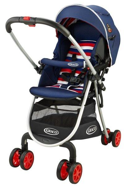Greco (Graco) lightweight high seat stroller City write R up Tricolor NV [Feet & large wide tire specification with cover] 67484 Singapore