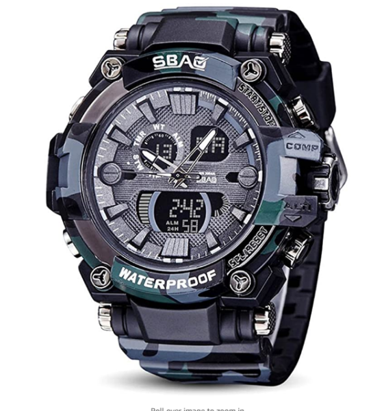 SBAO 8013 Watch New Electronic Mens Army-black Fashion Sports Watch Fashion Watch Malaysia
