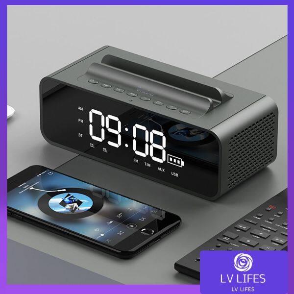 Nơi bán Đồng Hồ Và Loa V06 Trang Chủ Loa Âm Thanh Bluetooth Giá Đỡ Điện Thoại LED Đồng Hồ Báo Thức Gương Âm Thanh Độ Trung Thực Cao Loa Kép