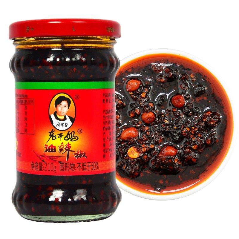 老干妈 香辣 油 辣椒酱 (Laoganma Spicy Oil Chili Sauce ) 210g (1 Pack = 3 Untis)