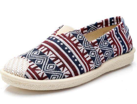 feb6bb25b8e0 M SIA Ready Stock Women Flat Shoes Casual Canvas Shoes Slip on Loafer