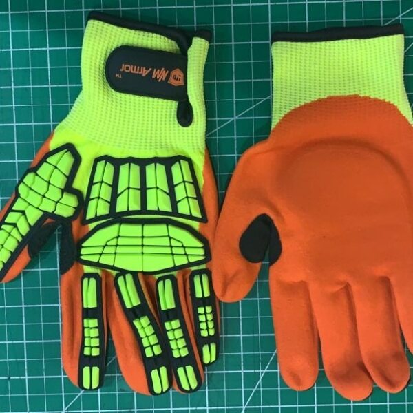 VSAFEMKT Cut Resistant Safety Work Glove Anti Vibration Anti Impact Oil-proof Protective With Nitrile Dipped Palm Glove for Working