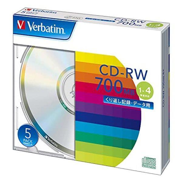 Verbatim Verbatim repeatedly for recording CD-RW 700MB 5 sheets silver disc 1-4 times faster SW80QU5V1