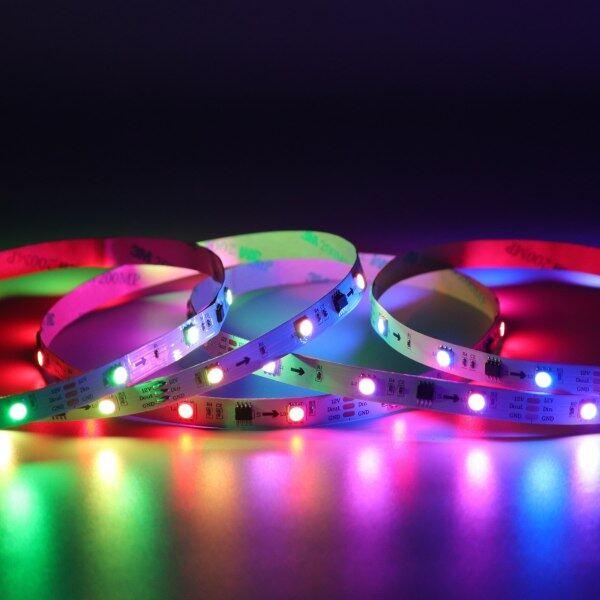 Bảng giá Dây Đèn LED Linh Hoạt 1M-5M 60 LED/M Cho Đèn Nền TV Đèn Tự Làm Đèn Gia Đình Cho Sân Vườn DC 5V Không Chống Thấm Nước Led Strip Light 5050 LED Strips RGB Light Với Đen PCB