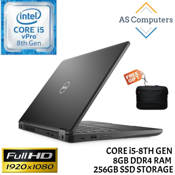 DELL LAPTOP LATITUDE 5490 14 INCH [INTEL CORE i5-8TH GEN / 8GB DDR4 RAM / 256GB SSD STORAGE / 1 YEAR WARRANTY / WINDOWS 10 PRO / FREE BAG / LAPTOP FOR STUDENT / HOME / OFFICE] Malaysia