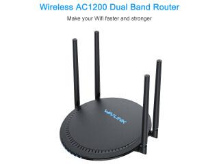 Băng Tần Kép Wavlink AC1200 (Kết Nối 5G 867Mbps Và 2.4G 300Mbps Cho Tổng Băng Thông Khả Dụng 1167Mbps) ứng Dụng Thông Minh Bộ Định Tuyến Wi-Fi AP WISP 10 100Mbps 4 X DBi Ăng Ten Tăng Cao Touchlink (Cảm Ứng Để Kết Nối) thumbnail