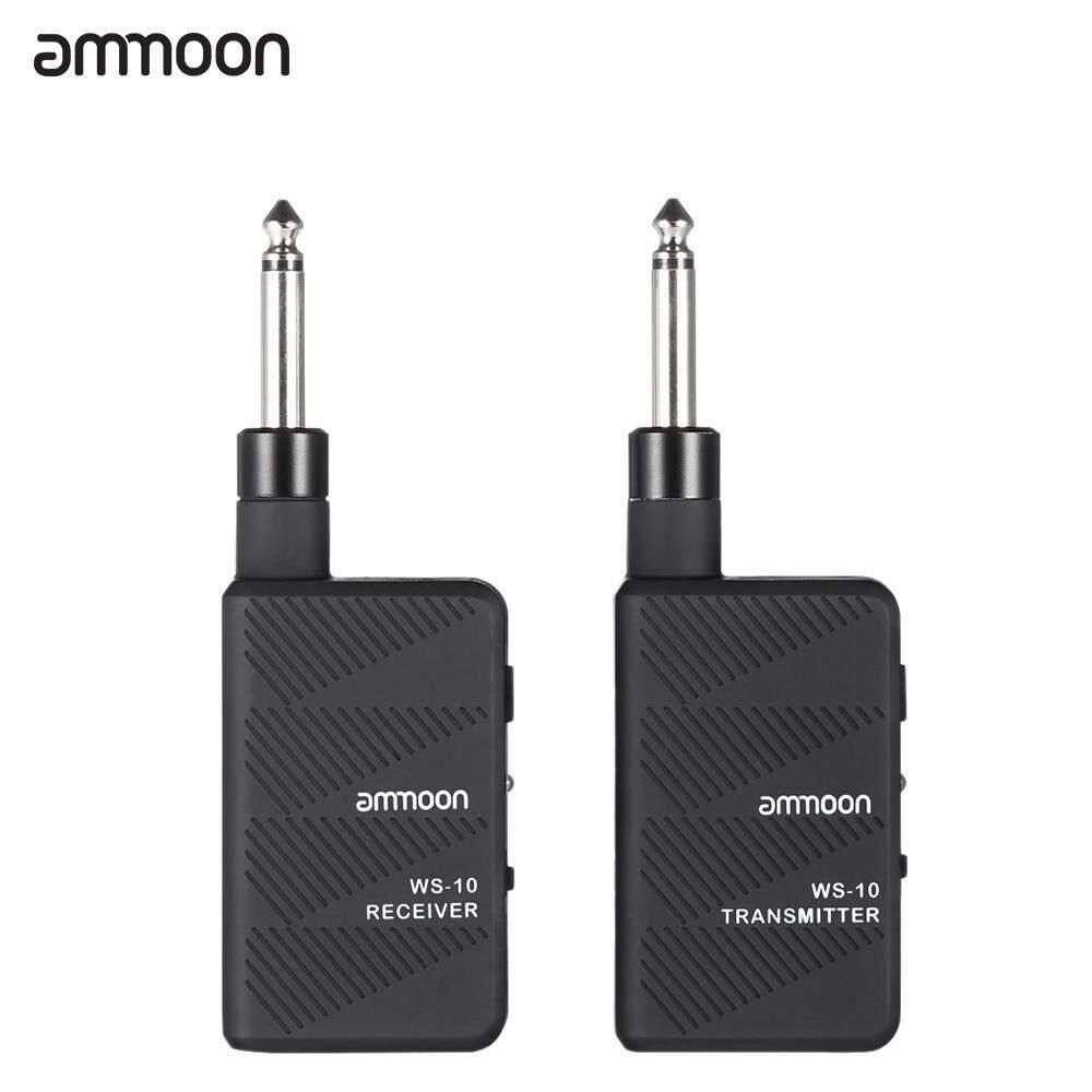 ammoon WS-10 Digital 2.4Ghz Audio Wireless Electric Guitar Transmitter Receiver Set