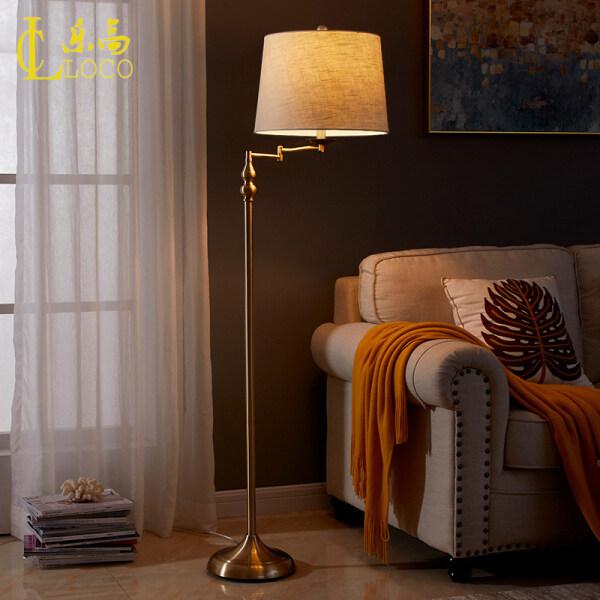 LOCO LIGHT Standard Lamps Living Room Home Decoration Simple Modern Lamps Metal Warm American Folding Floor Lamp Bedroom Bedside Lamp H150cm