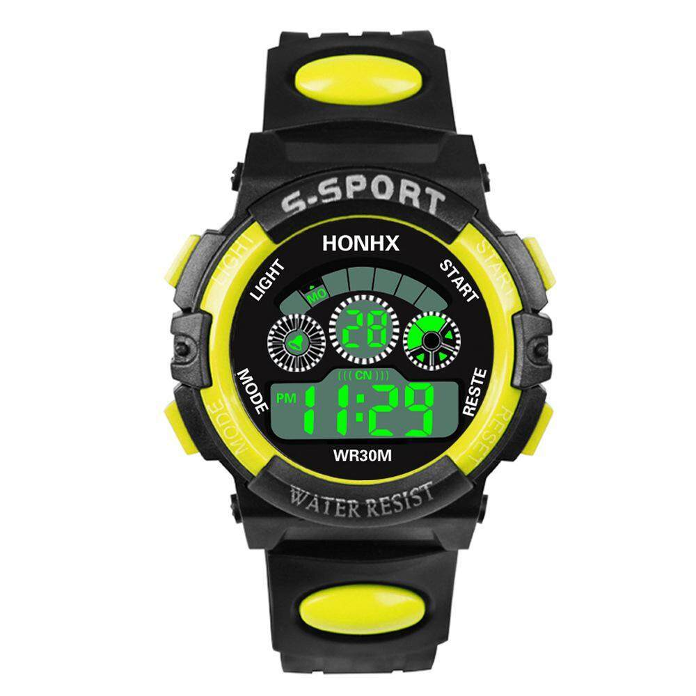 GoodScool HONHX Waterproof Electronic Watch for Boys and Girls,LED Three-eye Luminous Multi-function Sports Watch--Countdown,Alarm,Light Display,Time, Day of the Week,Date Display Malaysia
